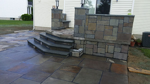 Stone Patio Steps